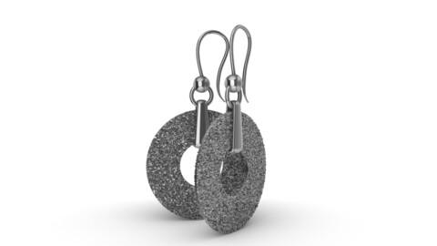 Stylish earrings snow