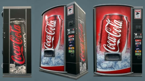 the vending machine - lowpoly game asset - 2k maps pbr ready