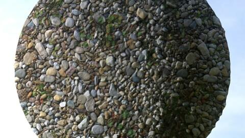 Gravel Grass 12 PBR Material