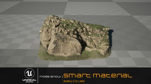 unrealengine  Smart material  |  moss&snow