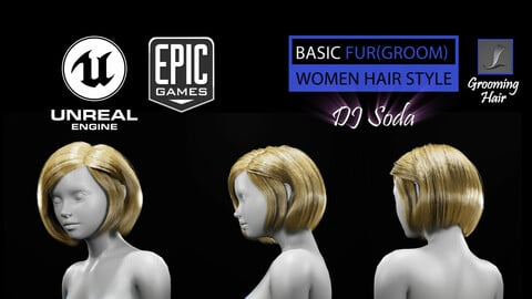 DJ Soda Grooming Real-Time Hairstyle Unreal Engine