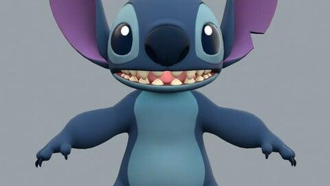 Disney's Stitch 3D model w/ textures