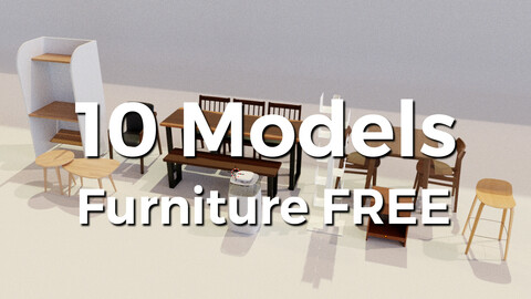 10 models furniture free part 1