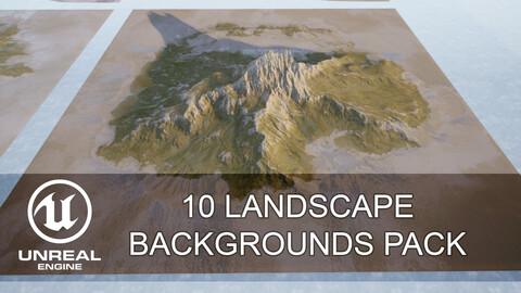 Unreal Engine - 10 Landscape backgrounds pack #1