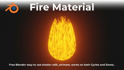 Blender Fire Material