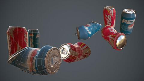 coca-cola and pepsi can