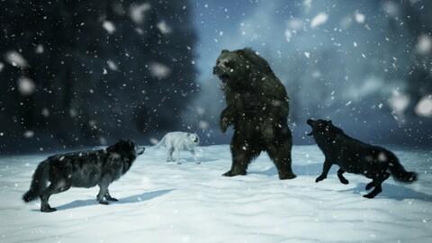 Dire Wolf for Daz Dog 8