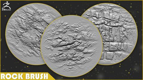 Rock Brush for ZBrush