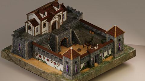 Warrior Barracks Level 15 3D Model