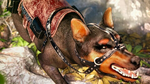 dForce Saddle for Daz Dog 8