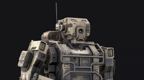 Robot Soldier Low Poly