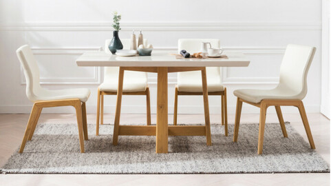 Amar marble dining table for 5 people 2color