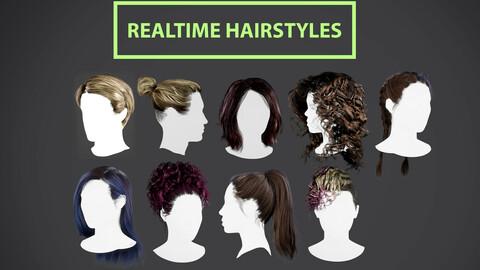Realtime hair BUNDLE + textures