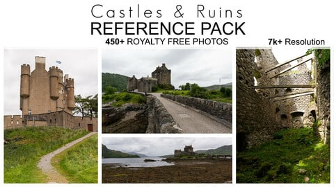 Reference Pack - Castles & Ruins - 450+ Royalty Free Photos