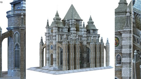 cathedral lowpoly for game num.010