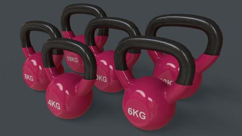 PBR 4-16KG Kettlebell V1 - Pink