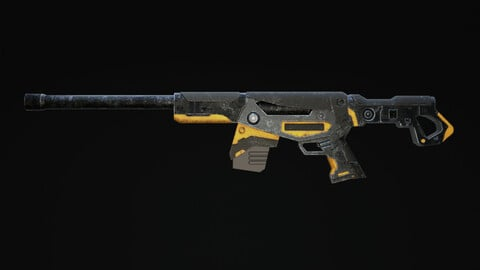Mirazaer Rifle Scifi Game Ready