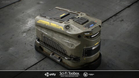 Sci-Fi Toolbox | Game ready optimized model