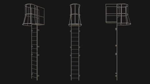 Fire escape stair Grey