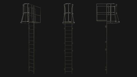 Fire escape stair Black