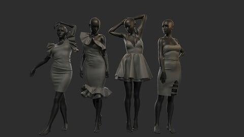 Pack Of Female Dresses