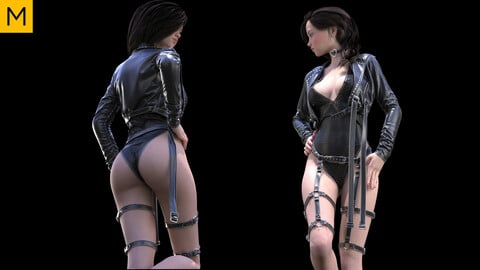 Sci-fi Female Outfit. Avatar genesis 8 Female. Marvelous Designer, Clo3d project + OBJ/FBX files (28)