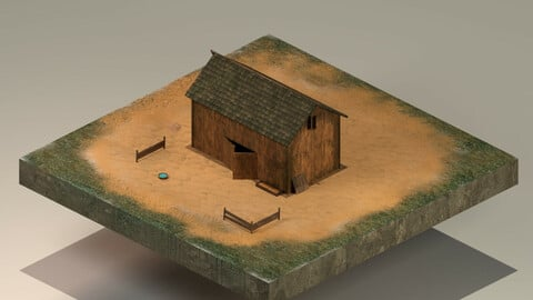 Barn Level 1 3D Model