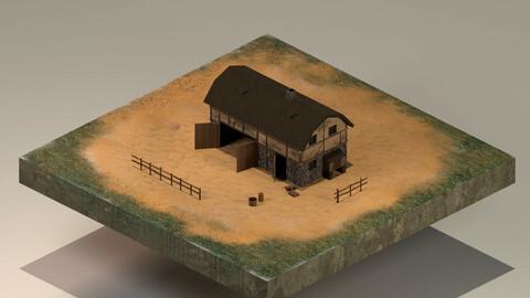 Barn Level 5 3D Model