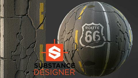 Stylized Road Asphalt - Substance Designer