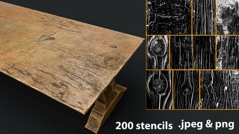 200 Wood Stencil - Vol.1
