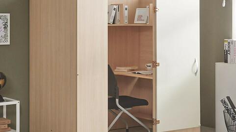 Link 1 person reading room desk