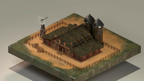 Barn Level 15 3D Model