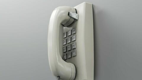 Vintage Mounted Phone