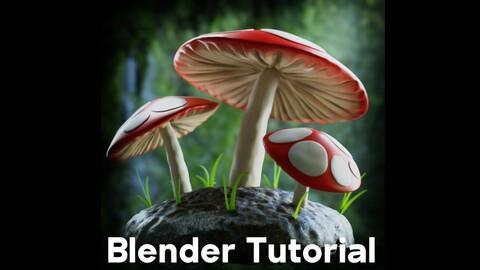 Mushroom Forest Scene (Blender Tutorial)