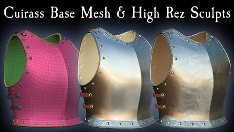 Medieval Cuirass Base Mesh & High Rez Sculpts