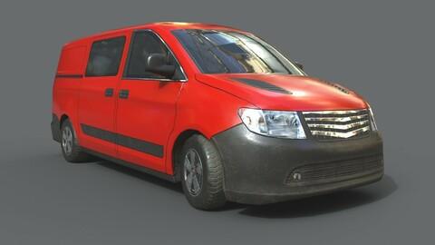 Generic Minivan Red
