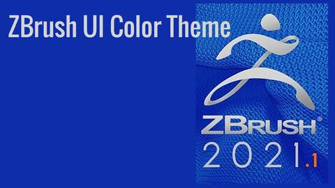 Cool Pixologic ZBrush UI Color Theme