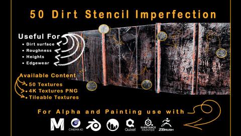 50 Dirt Stencil Imperfection - VOL 03