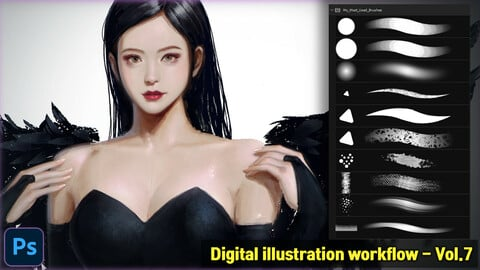 Digital illustration workflow - Vol.7