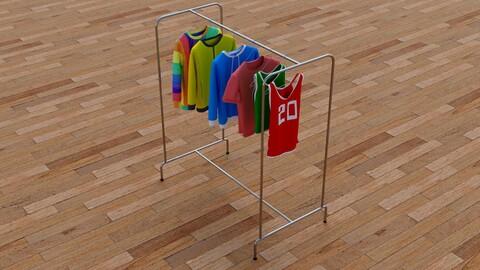 Textured Hanged Tshirts Cloth Rack model