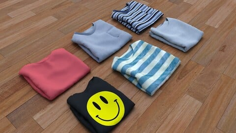 3D Textured Folded Tshirts