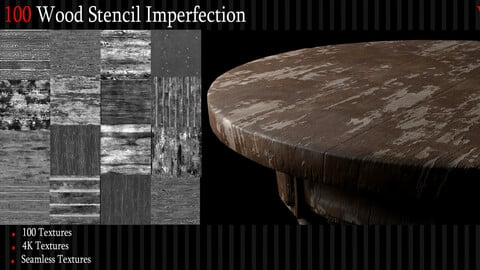 100 Wood Surface Imperfection - 4k Tileable Textures_Vol 2