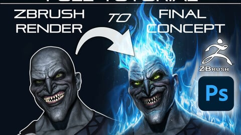 Zbrush to Photoshop Rendering Tutorial - Hades