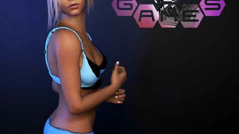 Lingerie Set A - Game ready and physics ready