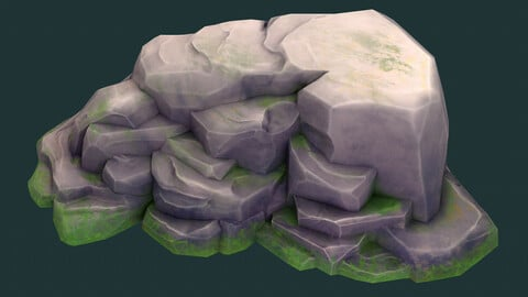 Stylised Texture Rock Generator - For Substance