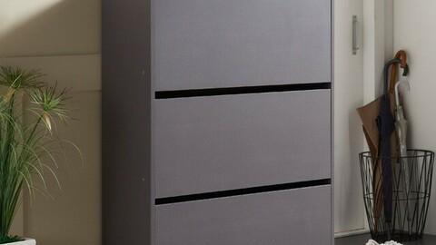 HS 3-tier wide shoe cabinet 3colors