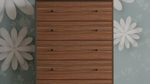 Mori 800 5-tier chest of drawers series