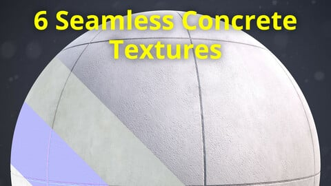 6 Seamless Concrete Textures 2K _ Vol 01