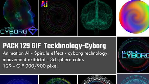 Pack 129 Gif -GIFT- teckhnology cyborg