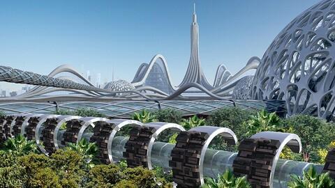 Futuristic City 13. Organic Architecture